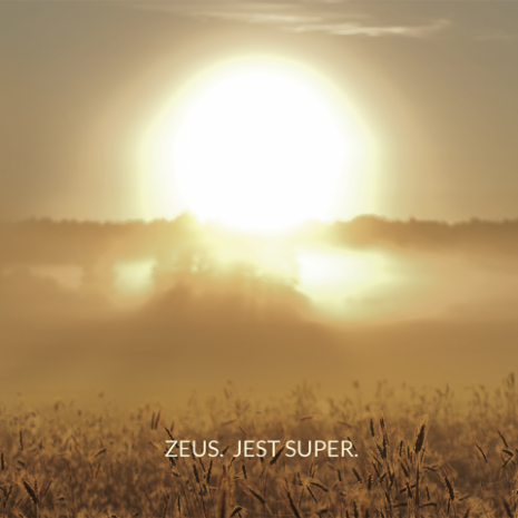 ZEUS JEST SUPER okładka