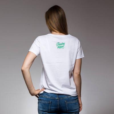 Koszulka damska MMP  biały/mięta