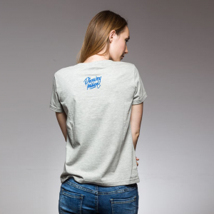 Koszulka damska MMP  szary/granat